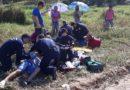 Dois ocupantes de uma moto ficam feridos em acidente de trânsito ocorrido na manhã deste sábado (23), em Gaspar
