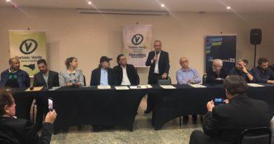 Com presença de Amin (PP), Partido Verde presta apoio à candidatura de João Paulo Kleinübing ao governo do Estado