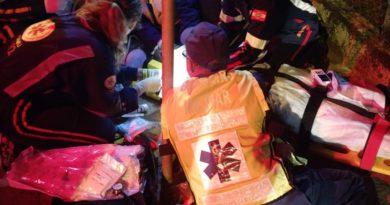 Queda de moto deixa pessoa gravemente ferida na noite de ontem (17) em Blumenau