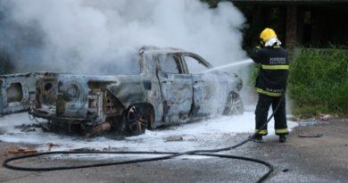 Homem de 45 anos é amordaçado e tem veículo incendiado em Blumenau