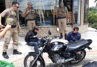 Polícia Militar age rápido e prende dupla de assaltantes em Blumenau