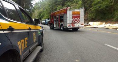Capotamento na Serra de Ibirama resultou em uma morte