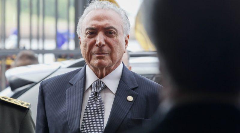 Temer ocupa sala especial da PF no Rio de Janeiro