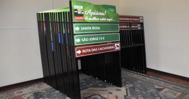 Prefeitura de Apiúna vai implantar mais de 70 placas de sinalização turística para fomentar o setor