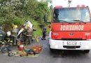 Acidente envolvendo dois carros e uma carreta deixa ferido grave na 470, em Blumenau