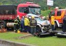 Mais um acidente de trânsito com vítima é registrado no km 62 da BR-470