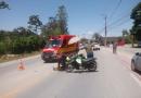 Mulher fica ferida após cair de motoneta no bairro Figueira, em Gaspar